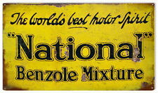National Benzole Mixture Gas and Motor Oil Sign
