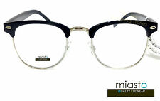 MIASTO RETRO BROWLINE OVERSIZED BIG CLUBMASTER READER READING GLASSES SPECS+1.00