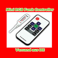 Mini Funk wireless Controller mit Remote für RGB LED Strip Streifen Band 12V~24V
