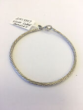 Persona Sterling Silver Charm Cable Bracelet w/ Lobster Clasp