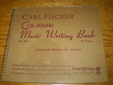 Vintage Carl Fischer Coil-Bound Music Writing Book - No. 106 - 40 Pages
