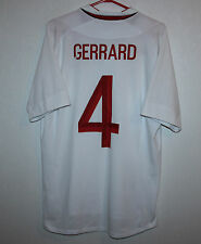 England National Team home shirt jersey 12/13 #4 Gerrard Umbro