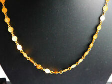 Gold Plated Filled Chain Necklace Jewelry madina/crescent on coin u98