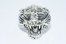 MENS ED HARDY TIGER .925 STERLING SILVER RING SIZE 11.75