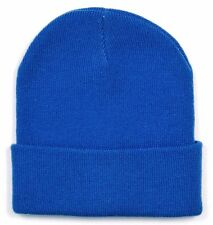 *NEW* J.Crew Men's Acrylic Solid Winter Beanie / Hat - One Size - Royal Blue