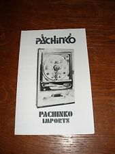 Sankyo Pachinko machine operating and instruction manual