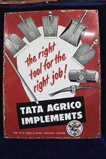 Old Vintage Advertising Tata Agrico Implements Enamel Signboard Collectible PJ72