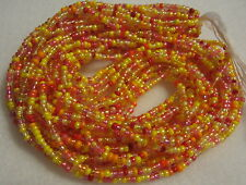 10/0 HANK ORANGE MIX CZECH GLASS SEED BEADS