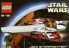 LEGO STAR WARS JEDI STARFIGHTER 7143 OBI, R4-P17 FIGURES 100% COMPLETE GUARANTEE