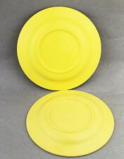 Yellow EON bakelite Saucers Two 2 Picnic Set Replacements Plates