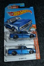 2016 HOT WHEELS HW HOT TRUCKS '67 CHEVY C10 143/250 SET OF TWO