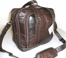 LORENZ REAL LEATHER TRAVEL CABIN FLIGHT BAG ACROSS BODY SHOULDER HANDBAG CASE