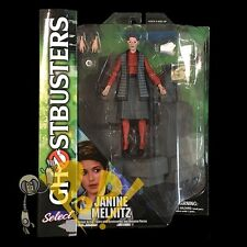 GHOSTBUSTERS Series 3 JANINE MELNITZ Action Figure w/ ROOFTOP Piece DST!