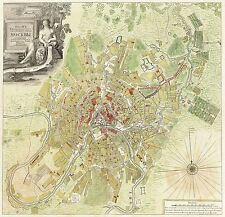MAP ANTIQUE 1739 MICHURIN MOSCOW CITY PLAN OLD LARGE REPRO POSTER PRINT PAM0203