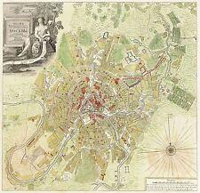 Mappa ANTICA 1739 michurin Mosca piano VECCHIE GRANDI repro poster stampa pam0203