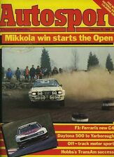 Autosport Feb 23rd 1984 *Daytona 500 & Trans Am Survey*
