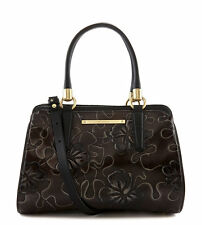 Brahmin Chelsea Floral Leather Satchel (Brown Umbria)