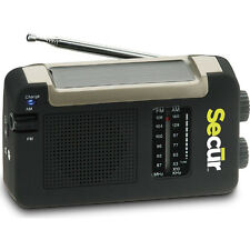 Secur Hybrid Solar Power AM FM Radio and Cell Phone Charger Emergency Tornado