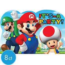 8 Super Mario Brother Postcard Invitation Birthday Party Supplies Favors Notepad