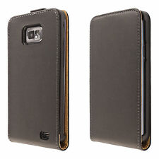 Custodia per cellulare Samsung Galaxy s2 SII i9100 GUSCIO FLIP CASE COVER ASTUCCIO NERO