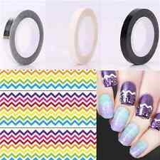 3 Colors Nail Art Striping Tape Black Silver White Manicure Stickers Lines Decor