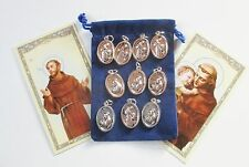 Wholesale Lot 50 New St. Francis / St. Anthony Saint Medals for Re-sell, Gifts