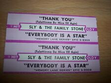 """2 Sly & The Family Stone Thank You Jukebox Title Strip CD 7"""" 45RPM Records"""