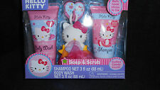 NIP Hello Kitty soap & scrub set w/shampoo cotton candy scent