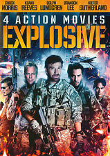 EXPLOSIVE: 4 ACTION MOVIES 2014 DVD USA COMPLETE IN BOX MOVIE FREE SHIPPING