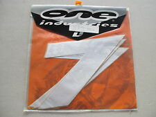 """NEW OLD STOCK ONE INDUSTRIES NUP-7-WH  7"""" WHITE #7 PHAT NUMBER - 3 PCS IN A BAG"""