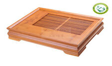 """large """"lucky&Wishful"""" Chinese Bamboo Gongfu Tea Table Serving Tray 18.3""""*13.6"""""""
