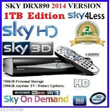 A GRADE 1TB SKY + HD SATELLITE BOX AMSTRAD DRX890 ☆☆ MASSIVE 1TB UPGRADE☆☆