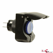 12 volt switch for fog Lights, LED lights etc Safety Cover Push Button Blue LED