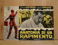 ANATOMIA DI UN RAPIMENTO fotobusta poster Tengoku to jigoku Akira Kurosawa
