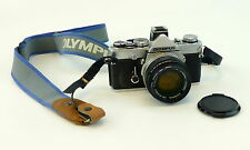 Olympus OM 1n MD Film Camera 35mm SLR w/F Zuiko Auto S 50mm 1:1.8 Lens Filter