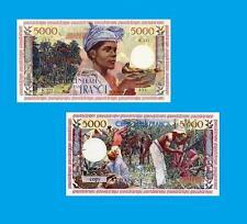Guadeloupe 5000 Nouveaux FRANCS 1960.  UNC - Reproductions