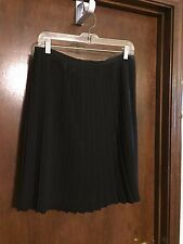 Delicia black 100% polyester pleated skirt - size 12