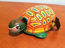 "Antique Vintage Tin Lithograph Windup Toy Turtle Marked ""K"" Japan"