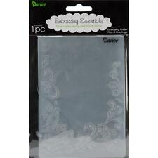 Darice Embossing Folder ~ Floral Border ~  Corner Flowers Swirls A2 1215-69