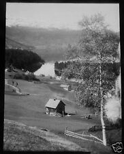 Glass Magic lantern Slide THE LAKE AT BERGEN NORWAY