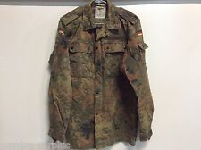 GERMAN ARMY FLECKTARN CAMO BDU UNIFORM SHIRT TOP BLOUSE MILITARY SZ. MED LONG