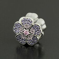 Authentic Pandora Charm Sparkling Apple Blossom, Blush Pink Crystal No.791831NBP