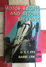 Motor Racing and Record Breaking book (signed)