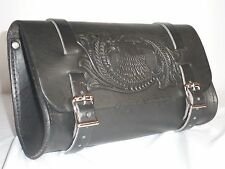 Motorcycle & Beach Cruiser Leather Tool Pouch/Tool Bag Universal Fit BP40R