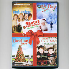 Santa's Holiday 4 Christmas family movies, new DVD Music Heart, Coat, Snow songs