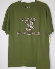 REALTREE * NEW Men's Large * T-shirt Graphic Tee NWT Buckhorn River - Hunting