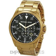 * nuevo * Michael Kors Para Hombre Gage Chronograph Gold Watch-mk8361-RRP £ 259