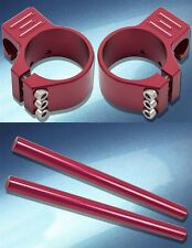 Yana Shiki 50mm Anodized Red Clip-On Handlebar 1995 Aprilia RS 250 / A2862R