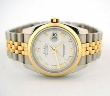 ROLEX DATEJUST 36 OYSTER PERPETUAL JUBILEE YELLOW GOLD STEEL 116203 WATCH