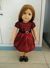 Doll accessories doll dress red Princess dress for 18inch American girl doll z17